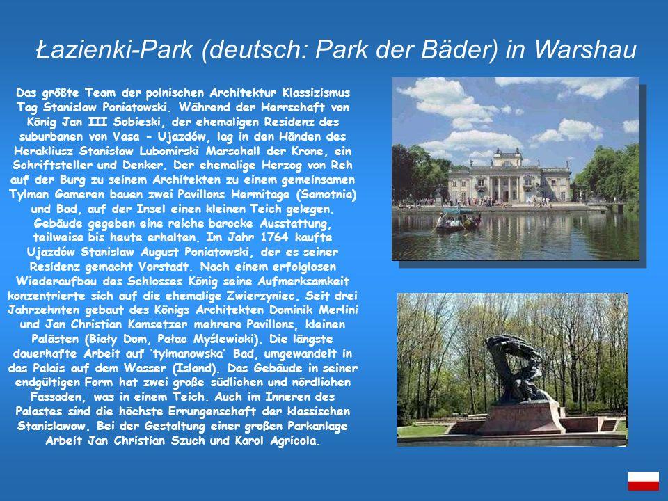 Łazienki-Park (deutsch: Park der Bäder) in Warshau