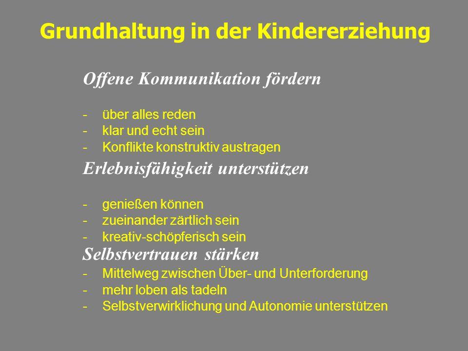 Grundhaltung in der Kindererziehung