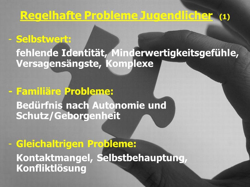 Regelhafte Probleme Jugendlicher (1)