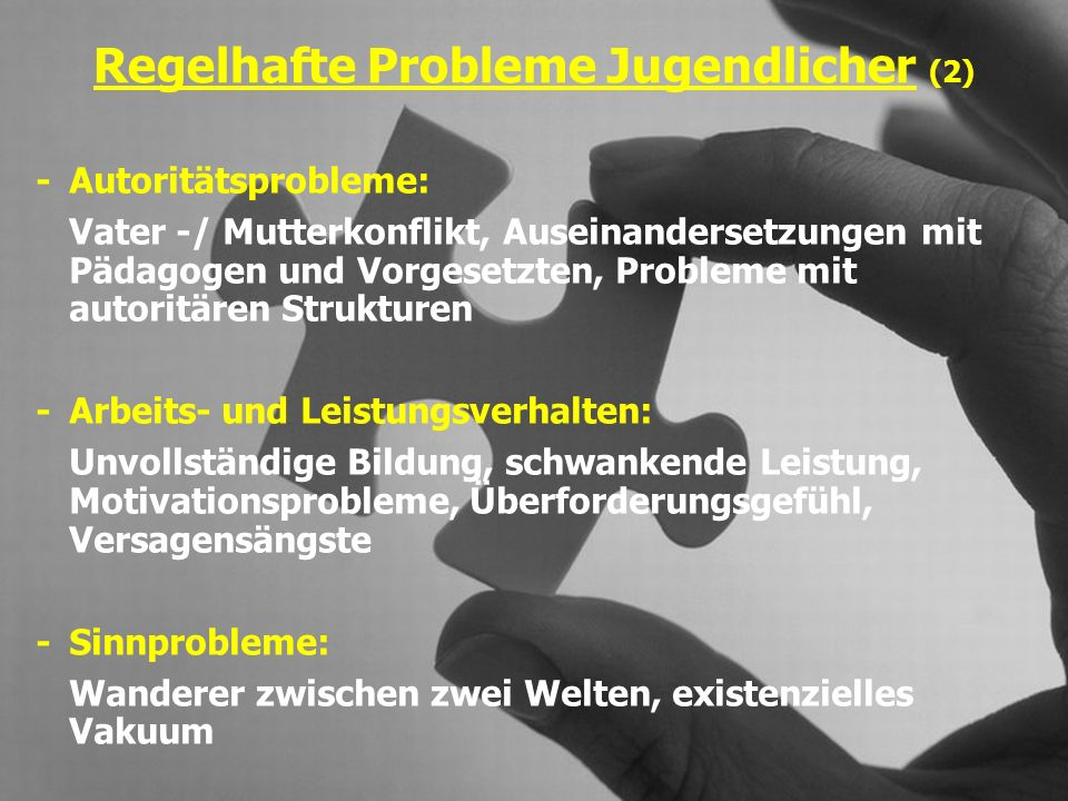 Regelhafte Probleme Jugendlicher (2)