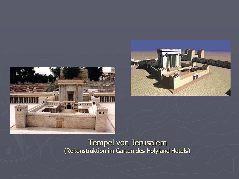 Tempel von Jerusalem (Rekonstruktion im Garten des Holyland Hotels)