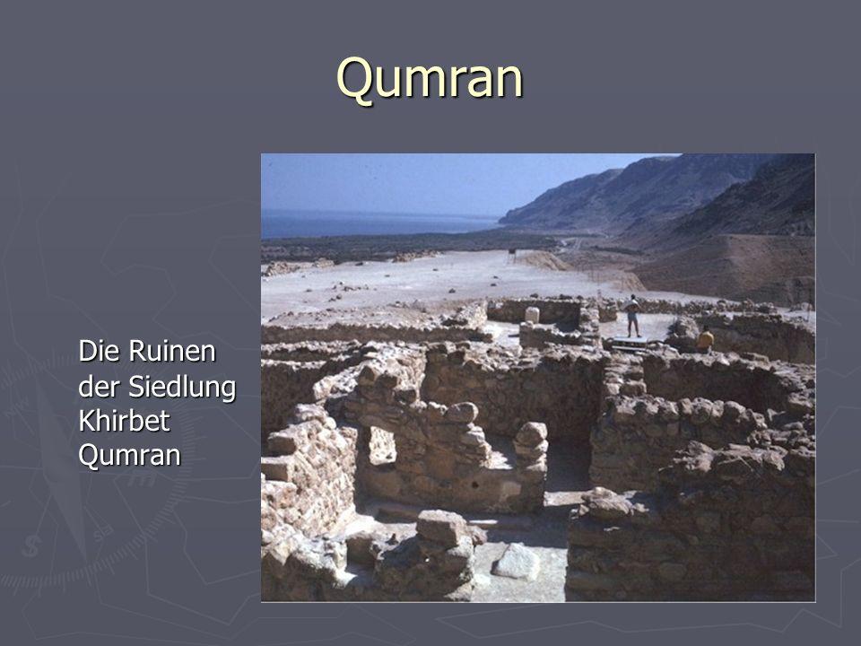 Qumran Die Ruinen der Siedlung Khirbet Qumran