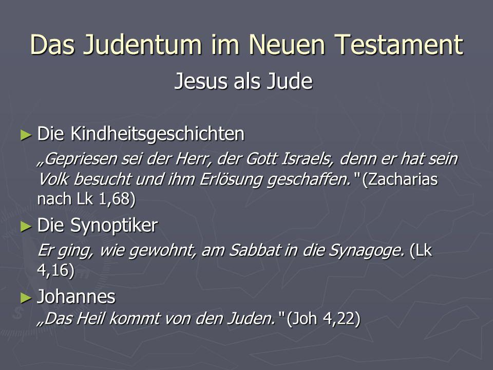 Das Judentum im Neuen Testament