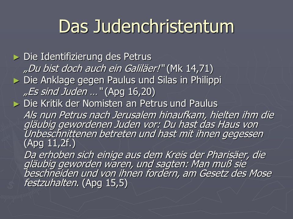 Das Judenchristentum Die Identifizierung des Petrus