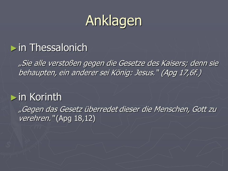 Anklagen in Thessalonich