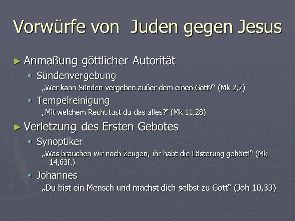 Vorwürfe von Juden gegen Jesus