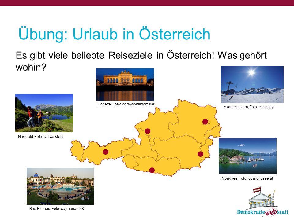 Übung: Urlaub in Österreich
