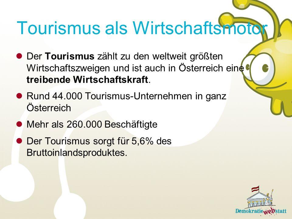 Tourismus als Wirtschaftsmotor