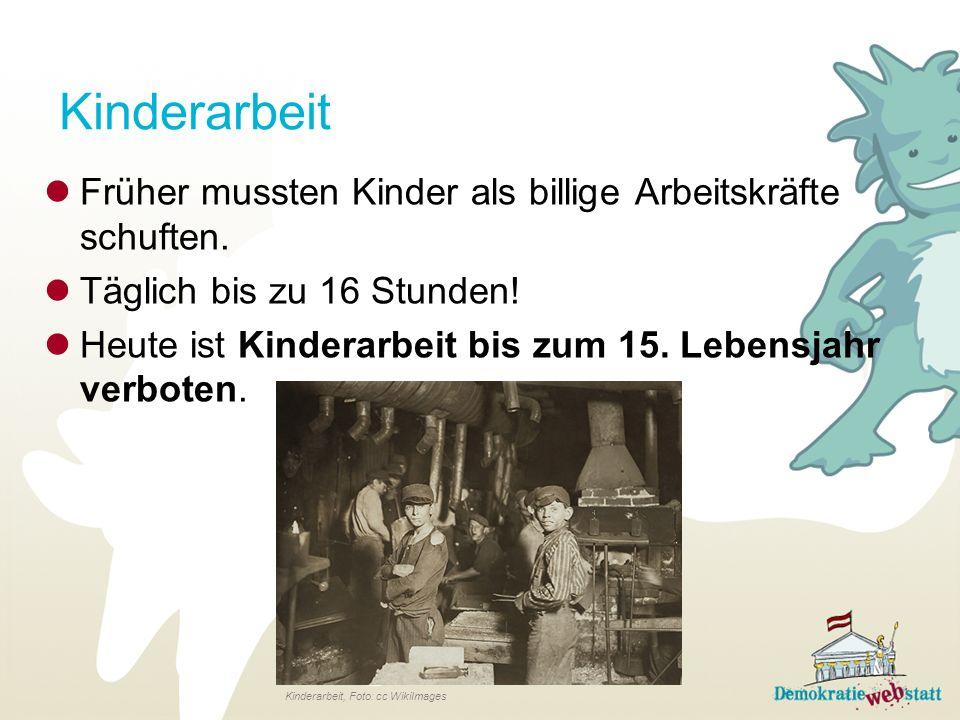 Kinderarbeit Früher mussten Kinder als billige Arbeitskräfte schuften.