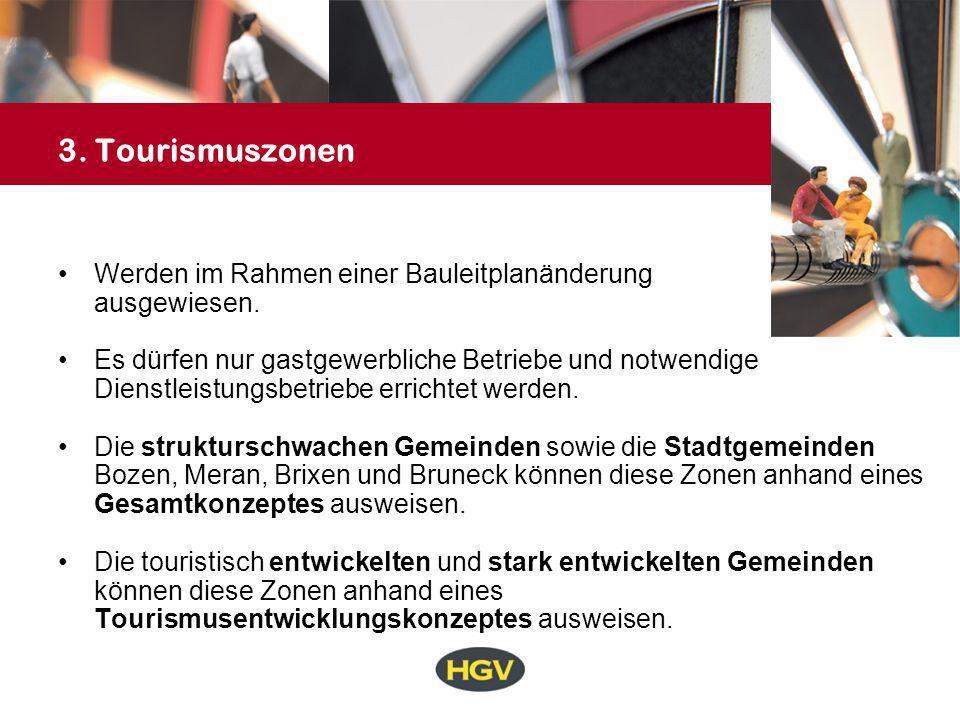 3. Tourismuszonen Werden im Rahmen einer Bauleitplanänderung