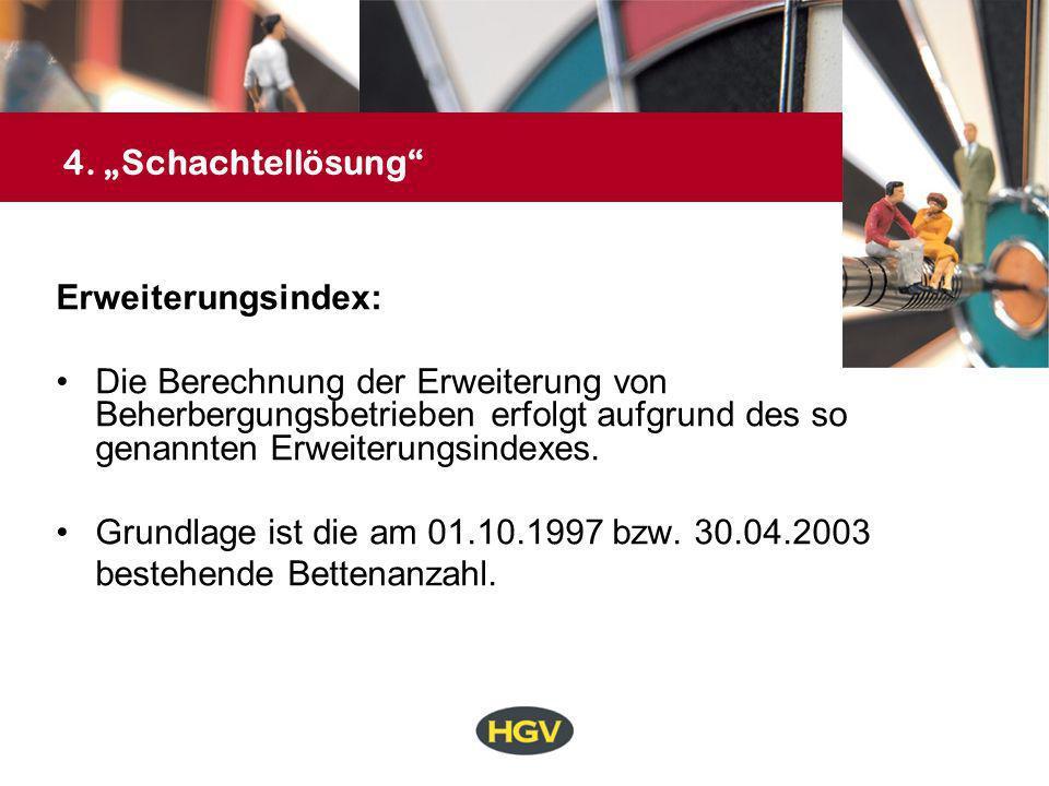 """4. """"Schachtellösung Erweiterungsindex:"""