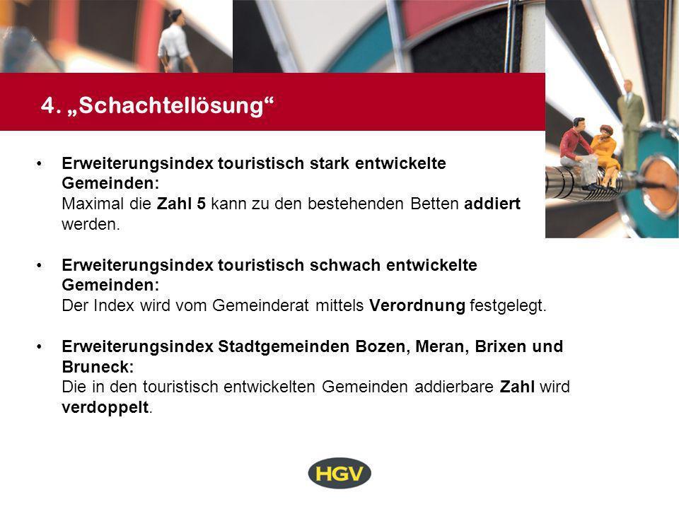 """4. """"Schachtellösung Erweiterungsindex touristisch stark entwickelte"""