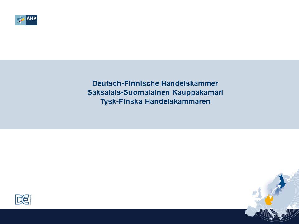 Deutsch-Finnische Handelskammer Saksalais-Suomalainen Kauppakamari