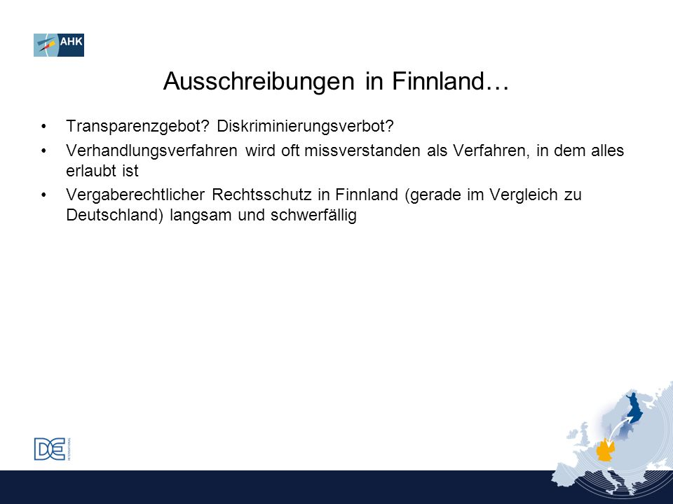 Ausschreibungen in Finnland…
