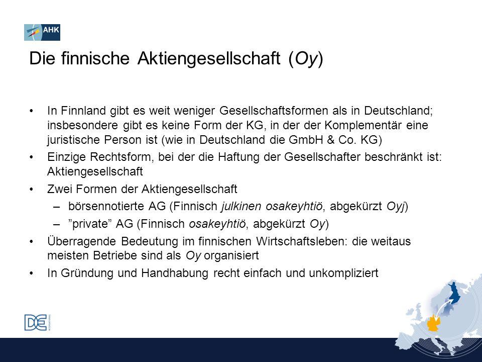 Die finnische Aktiengesellschaft (Oy)