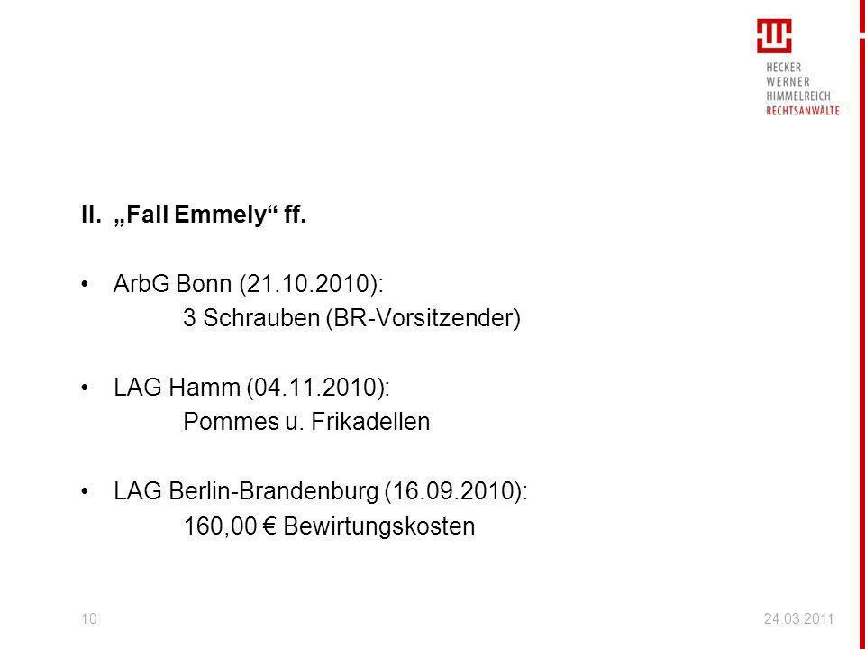 3 Schrauben (BR-Vorsitzender) LAG Hamm (04.11.2010):
