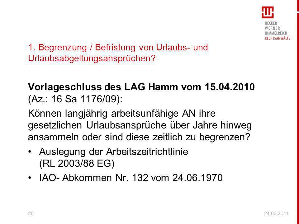 Vorlageschluss des LAG Hamm vom 15.04.2010 (Az.: 16 Sa 1176/09):