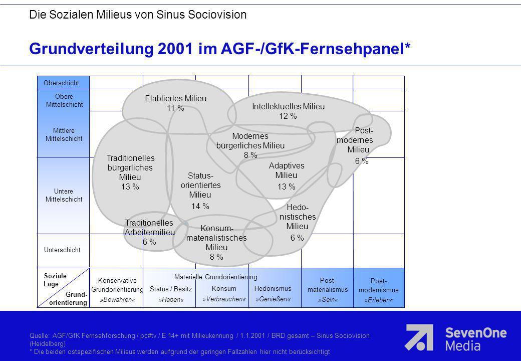 Grundverteilung 2001 im AGF-/GfK-Fernsehpanel*