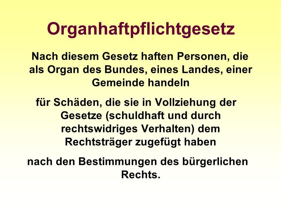 Organhaftpflichtgesetz