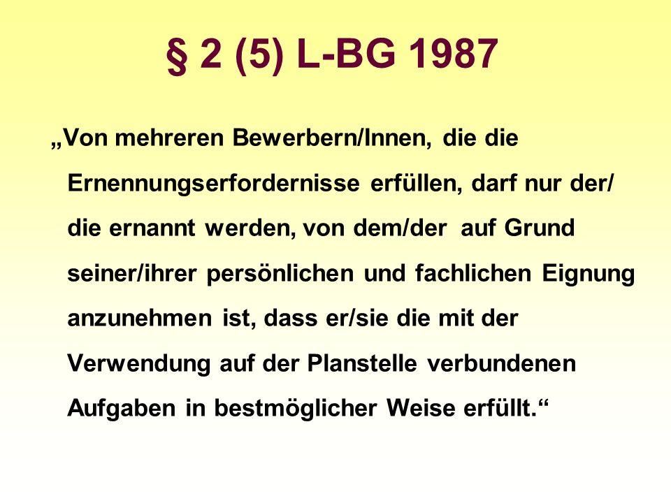 § 2 (5) L-BG 1987