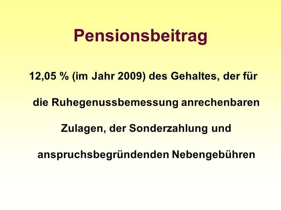 Pensionsbeitrag