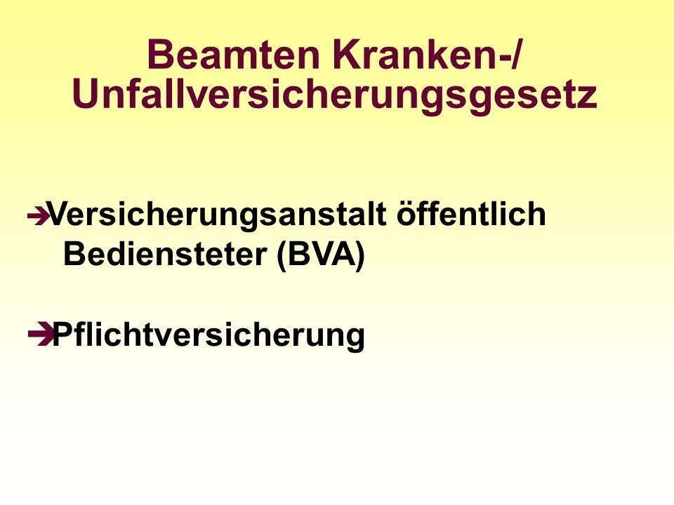 Beamten Kranken-/ Unfallversicherungsgesetz