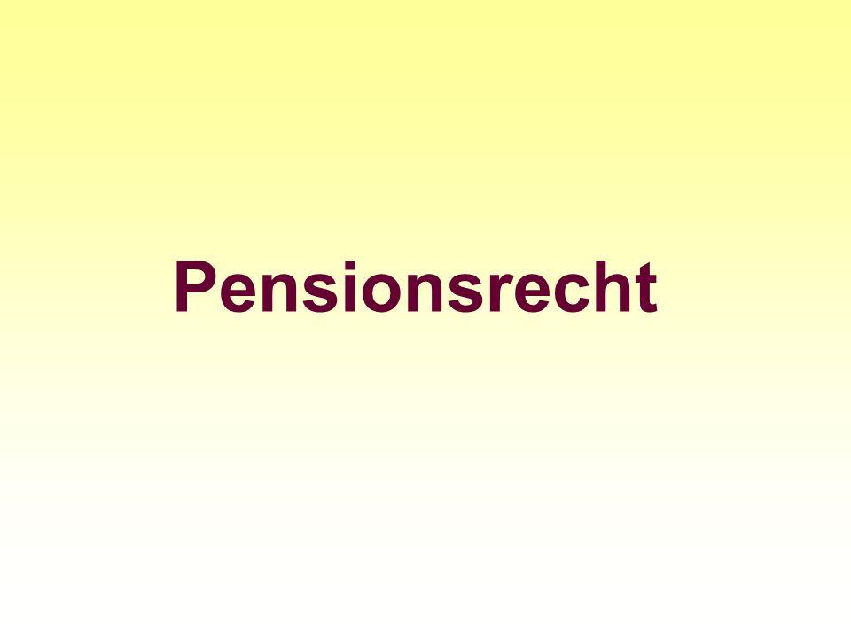 Pensionsrecht