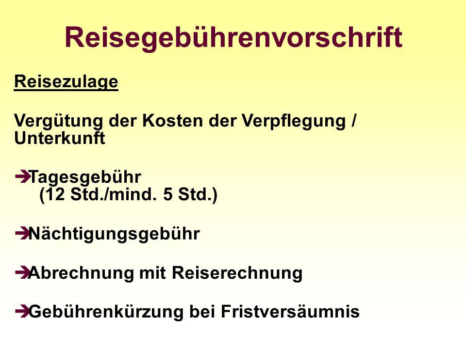 Reisegebührenvorschrift