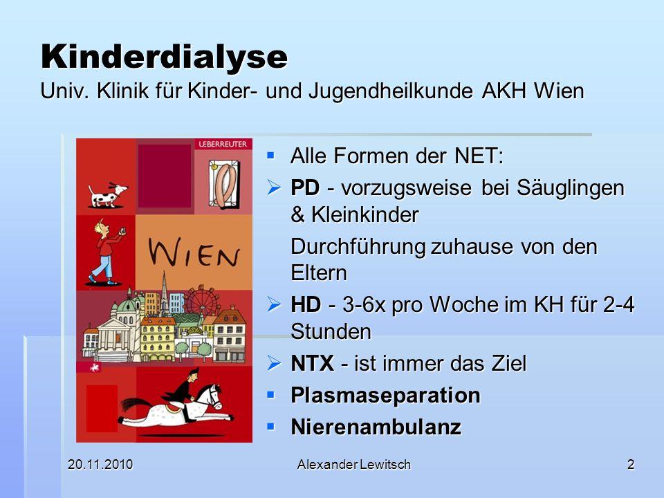 Kinderdialyse Univ. Klinik für Kinder- und Jugendheilkunde AKH Wien