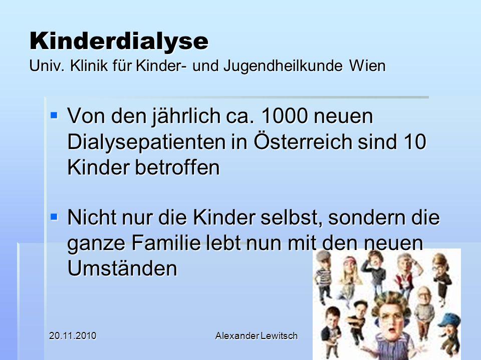 Kinderdialyse Univ. Klinik für Kinder- und Jugendheilkunde Wien