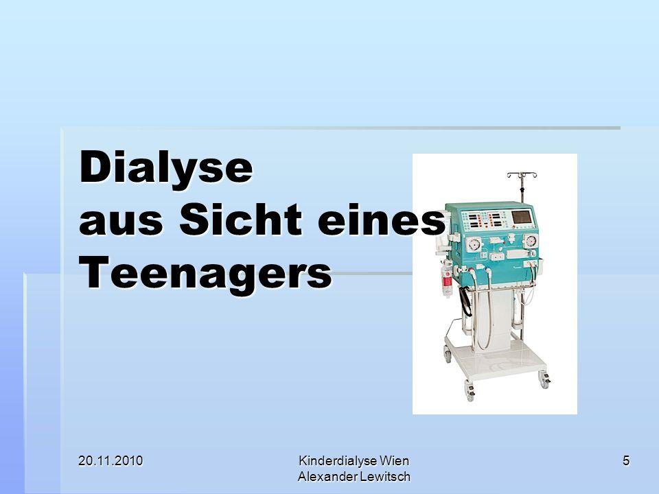 Dialyse aus Sicht eines Teenagers