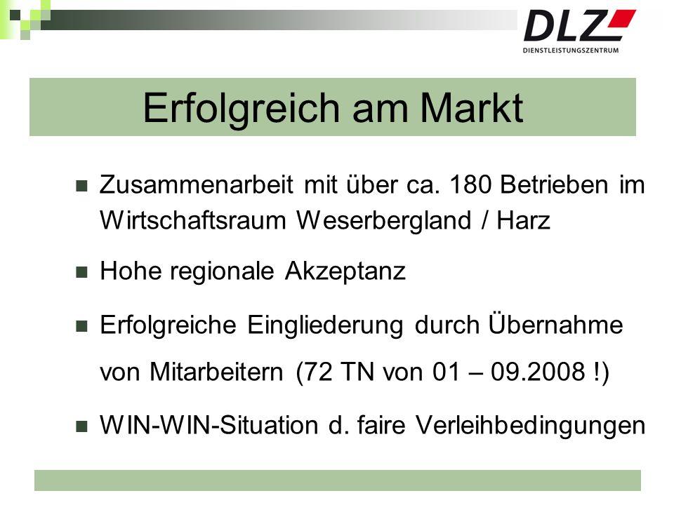 Erfolgreich am MarktZusammenarbeit mit über ca. 180 Betrieben im Wirtschaftsraum Weserbergland / Harz.