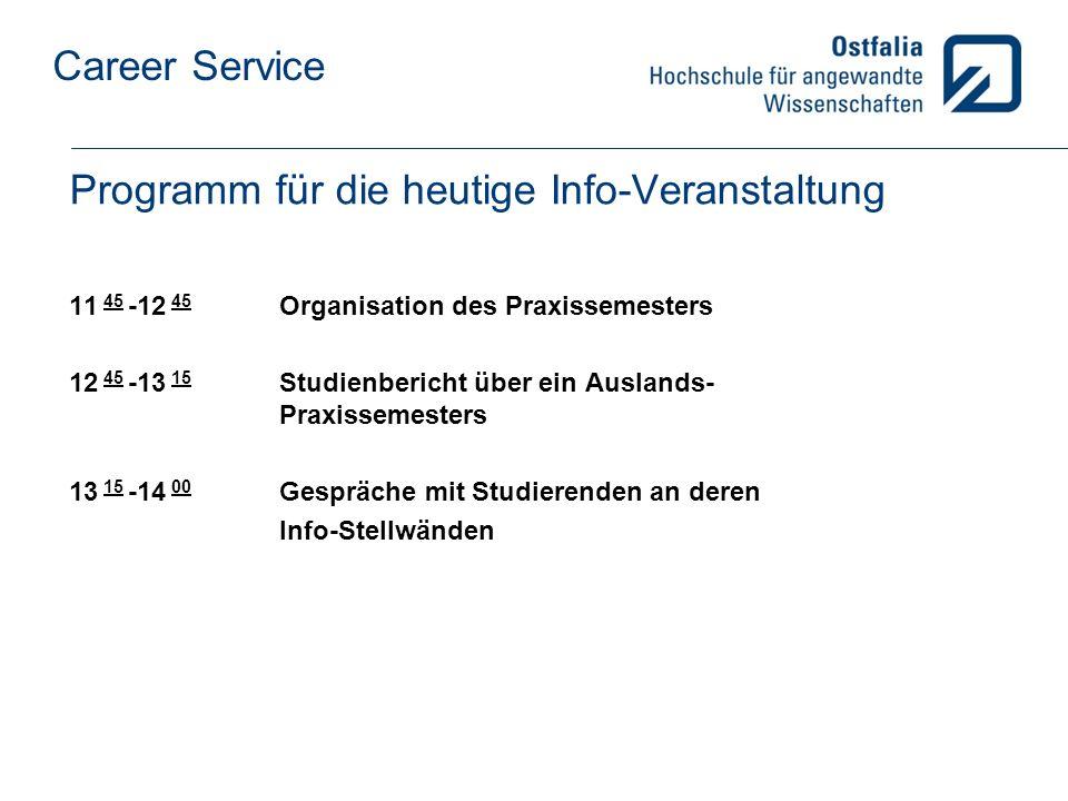 Programm für die heutige Info-Veranstaltung