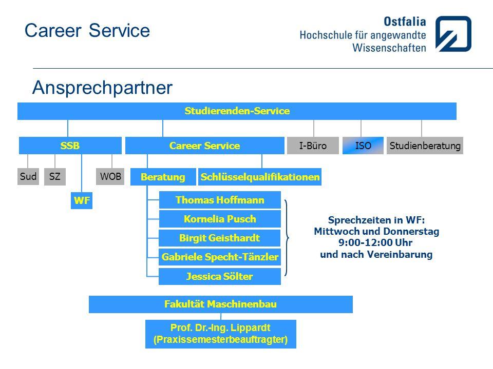 Ansprechpartner Studierenden-Service SSB Career Service I-Büro ISO