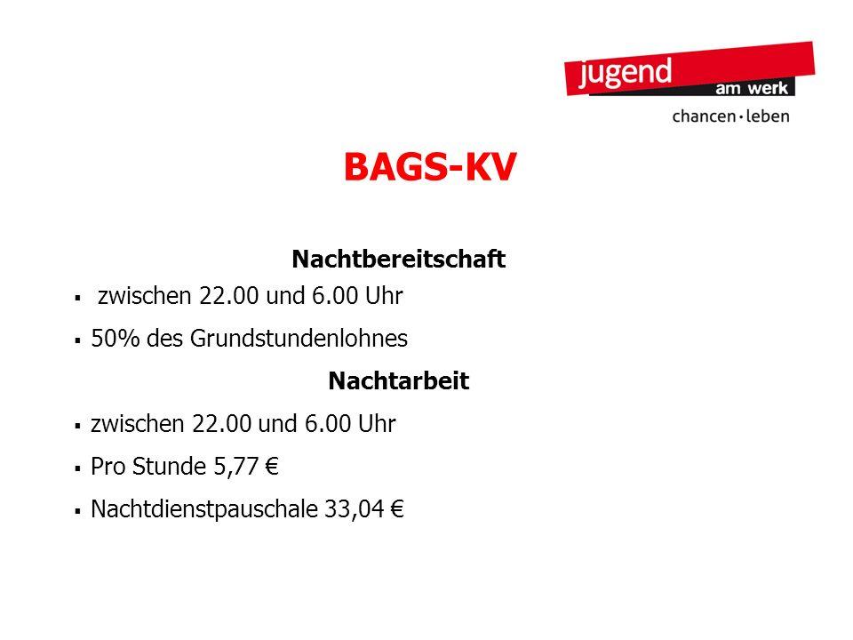 BAGS-KV Nachtbereitschaft zwischen 22.00 und 6.00 Uhr