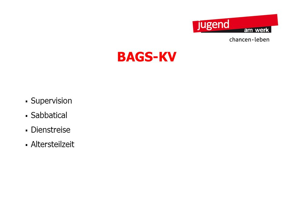 BAGS-KV Supervision Sabbatical Dienstreise Altersteilzeit 23