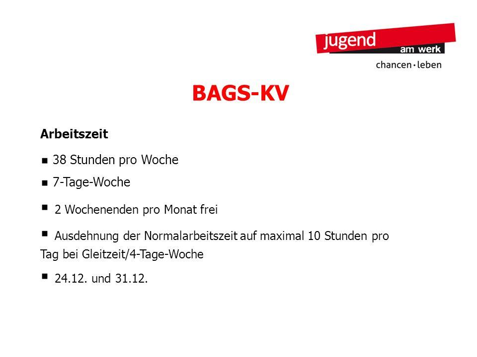 BAGS-KV Arbeitszeit 38 Stunden pro Woche 7-Tage-Woche