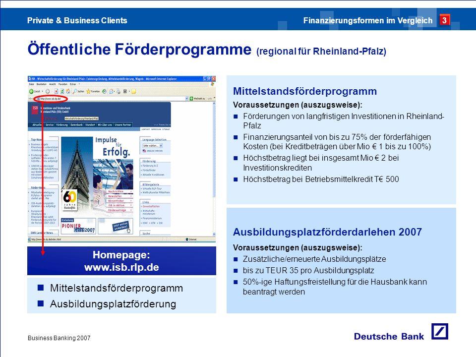 Öffentliche Förderprogramme (regional für Rheinland-Pfalz)