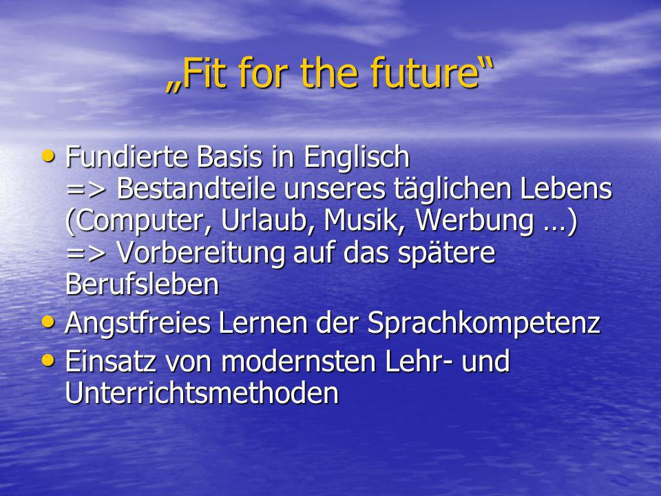 """Fit for the future"