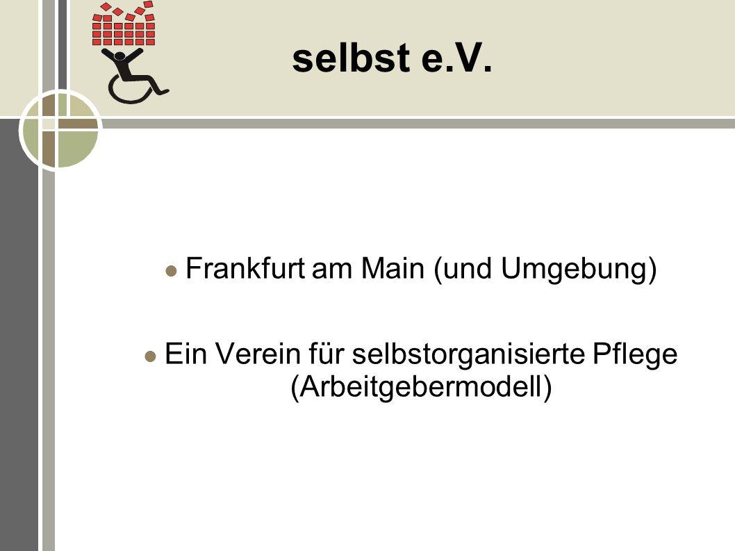 selbst e.V. Frankfurt am Main (und Umgebung)