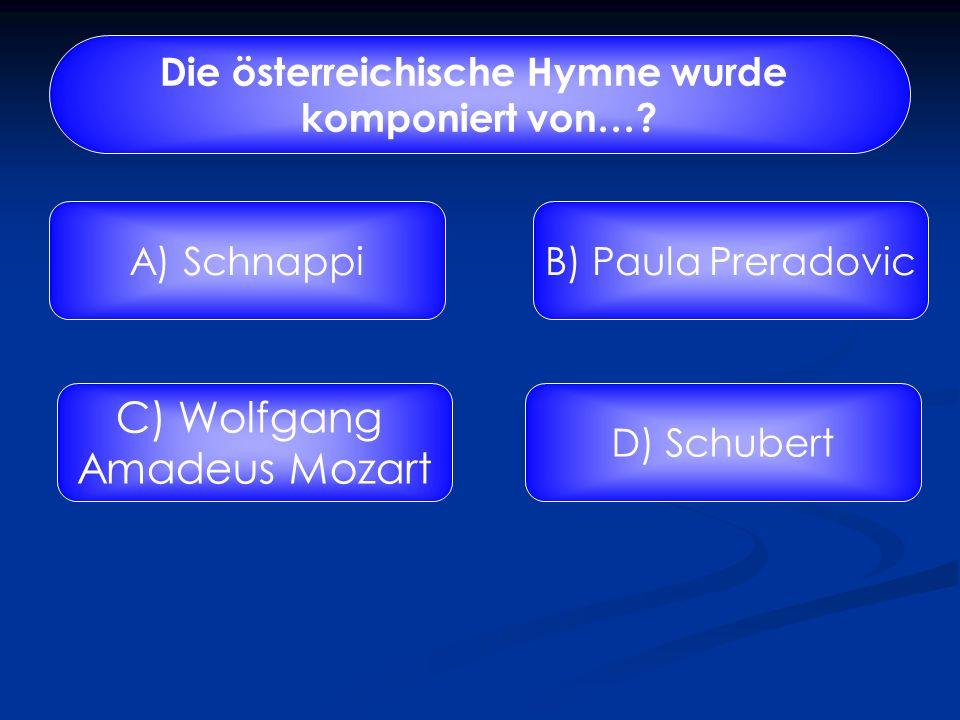 Die österreichische Hymne wurde