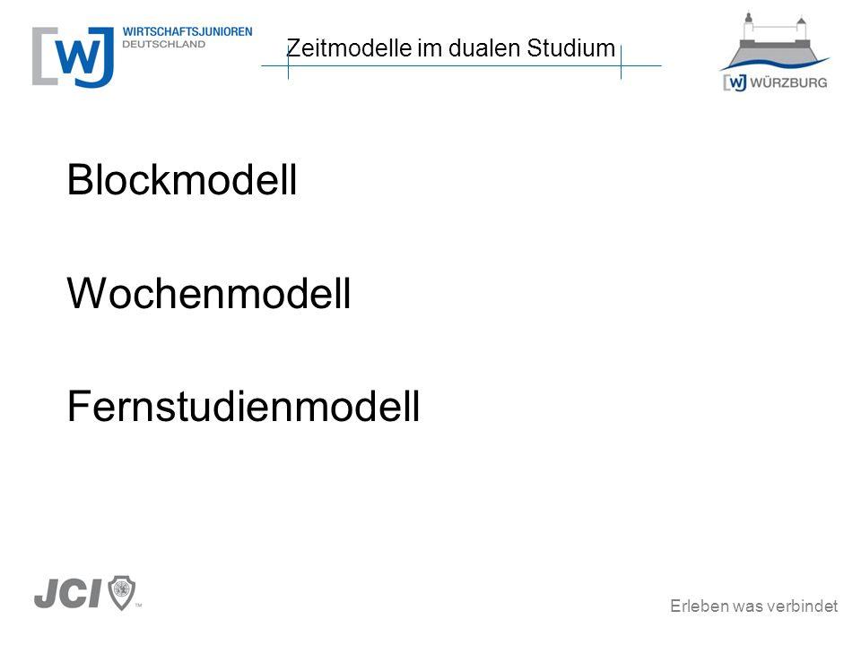 Blockmodell Wochenmodell Fernstudienmodell