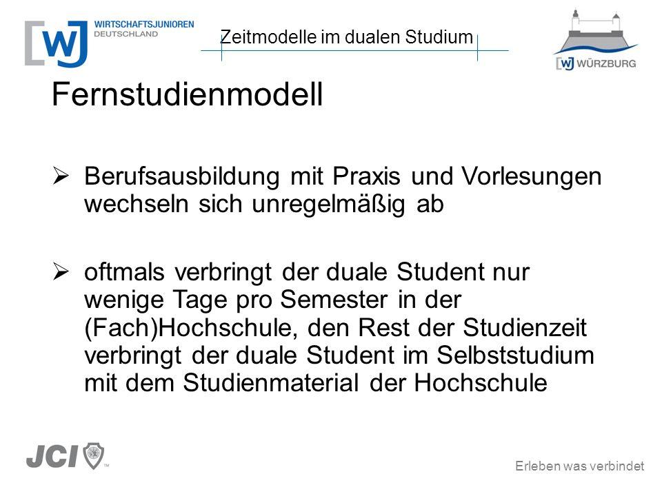 Zeitmodelle im dualen Studium