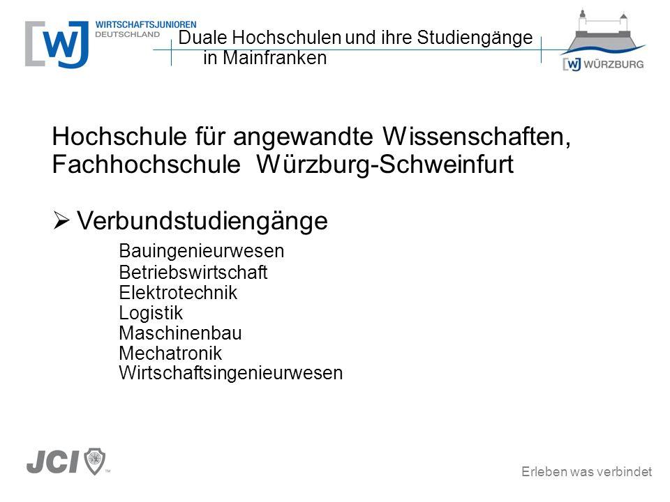 Duale Hochschulen und ihre Studiengänge in Mainfranken