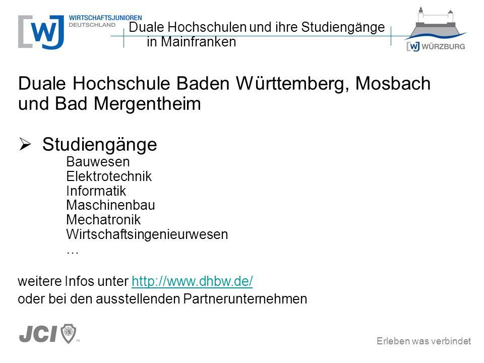 Duale Hochschule Baden Württemberg, Mosbach und Bad Mergentheim