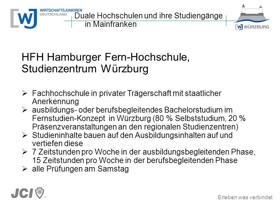 HFH Hamburger Fern-Hochschule, Studienzentrum Würzburg