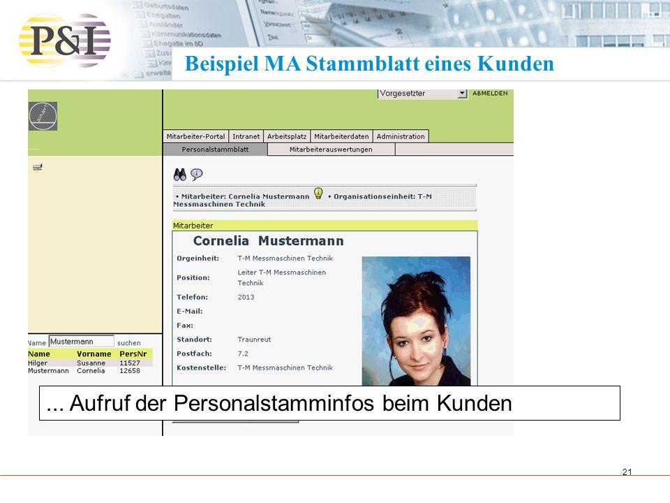 Beispiel MA Stammblatt eines Kunden