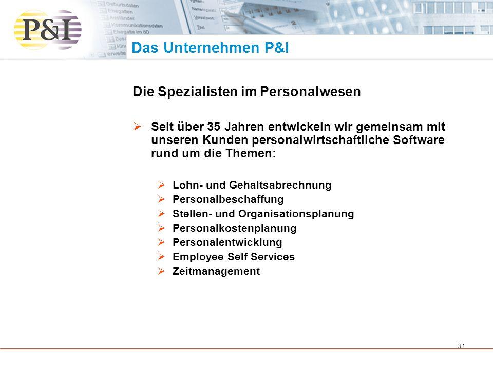 Das Unternehmen P&I Die Spezialisten im Personalwesen