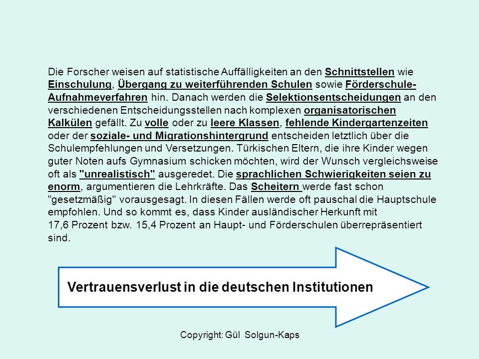 Vertrauensverlust in die deutschen Institutionen