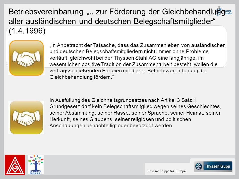 "Betriebsvereinbarung """